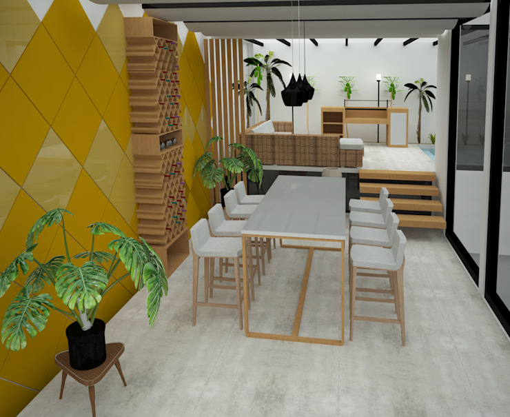 UOTAN Studio Modern Living Room Tiles Yellow