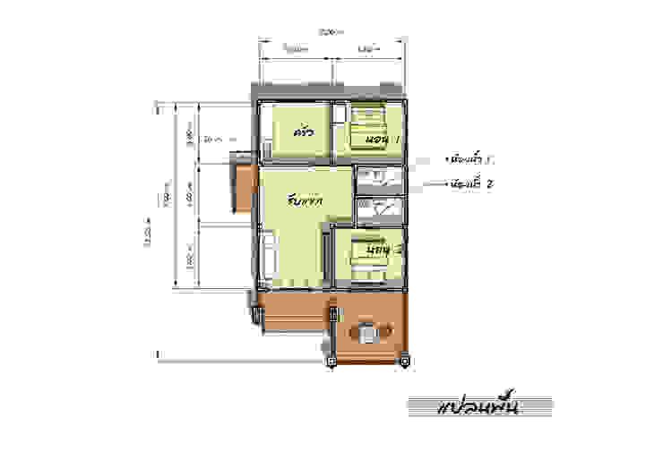Nhà by แบบบ้านออกแบบบ้านเชียงใหม่