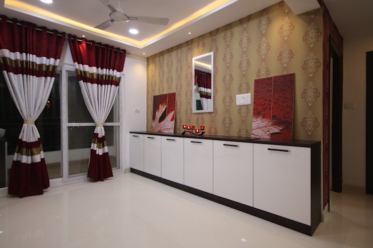 Crockery Unit Asian style dining room by Enrich Interiors & Decors Asian Plywood