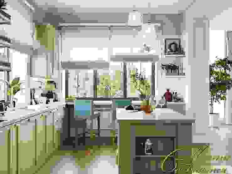 Завтрак у озера: гостиная в частном доме Компания архитекторов Латышевых 'Мечты сбываются' Кухни в эклектичном стиле