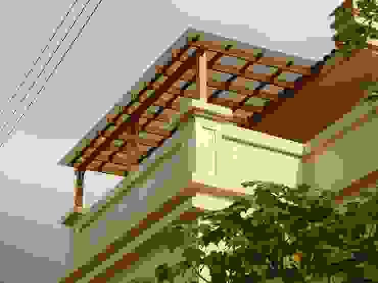 屋頂木頭採光罩好有自然氛圍 根據 園匠工坊-採光罩 玻璃屋 小木屋 露台 南方松木作工程