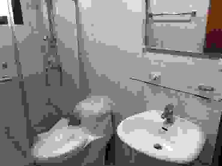 洗手台與馬桶 讚基營造有限公司 現代浴室設計點子、靈感&圖片