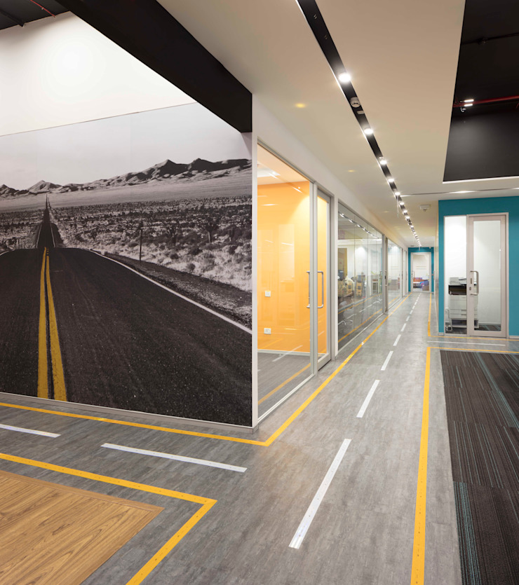 Apex Project Solutions Pvt. Ltd. Moderne Ladenflächen Beton Mehrfarbig