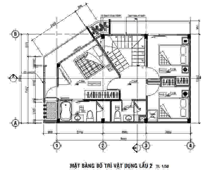 Kiến Trúc 3 Tầng Khoa Học Chống Nắng Cho Nhà Hướng Tây bởi Công ty Thiết Kế Xây Dựng Song Phát Hiện đại