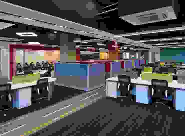 Apex Project Solutions Pvt. Ltd. Moderne Ladenflächen Holz-Kunststoff-Verbund Mehrfarbig