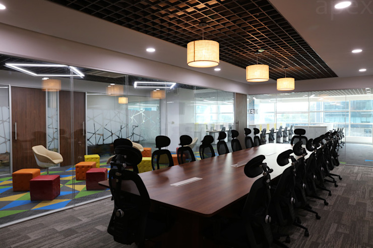 Conference room by Apex Project Solutions Pvt. Ltd. Modern Plywood