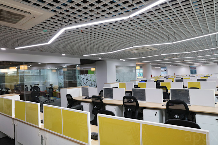 Office area by Apex Project Solutions Pvt. Ltd. Modern Aluminium/Zinc