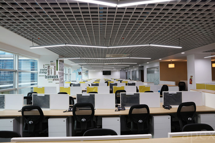 Apex Project Solutions Pvt. Ltd. Moderne Ladenflächen Sperrholz Weiß