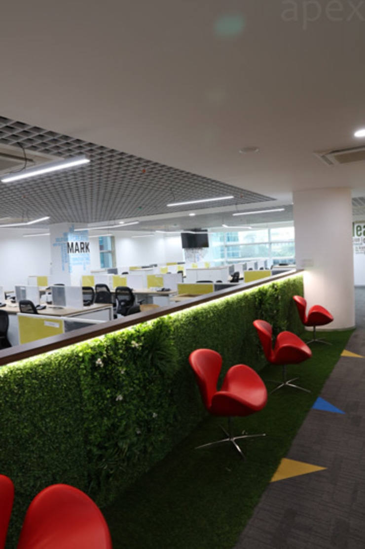 Office area by Apex Project Solutions Pvt. Ltd. Modern Plywood