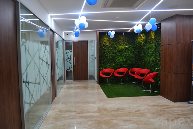 Office area reception by Apex Project Solutions Pvt. Ltd. Modern Plastic