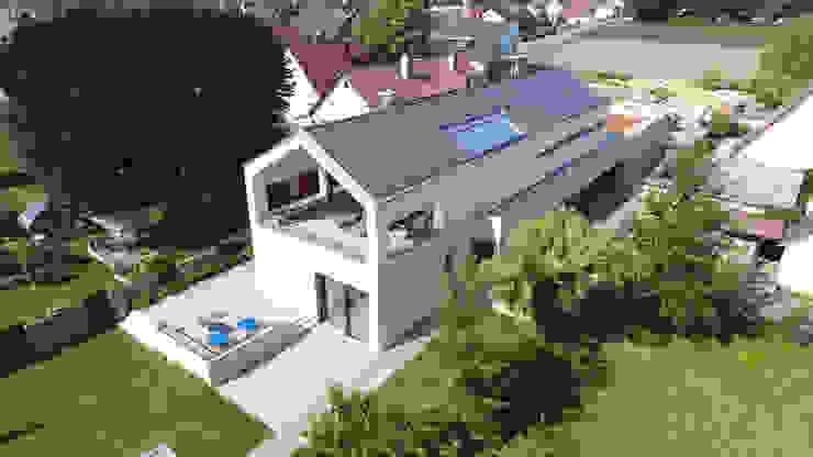 Luftbild von Architekturbüro zwo P Minimalistisch Beton