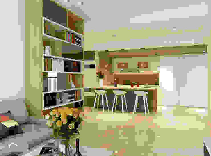 Dining room Minimalist dining room by Singapore Carpentry Interior Design Pte Ltd Minimalist