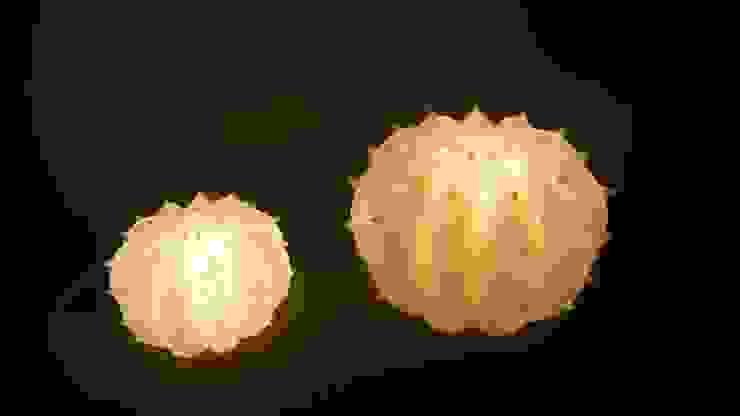 Lampada Desert Light modello Echinocactus Pearl di SeFa Design by nature Eclettico Fibre naturali Beige