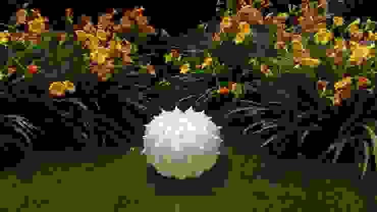 Echinocactus modello per esterni, finitura perlata di SeFa Design by nature Eclettico Fibre naturali Beige