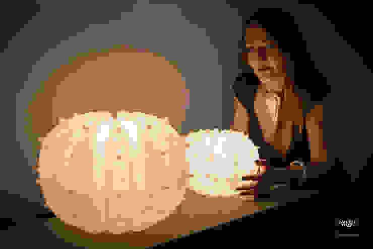 Desert Light modello Echinocactus , misure S e M di SeFa Design by nature Eclettico Fibre naturali Beige