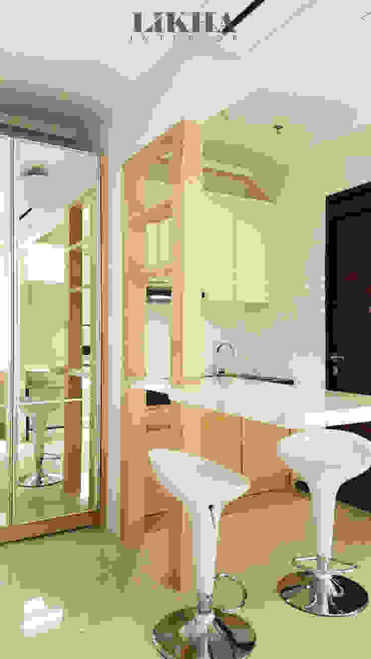 Area Dapur + Mini Bar Oleh Likha Interior Minimalis Kayu Lapis
