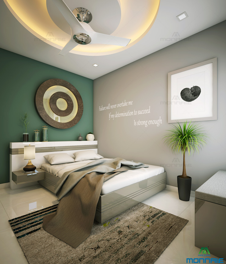 Modern style bedroom by Monnaie Interiors Pvt Ltd Modern