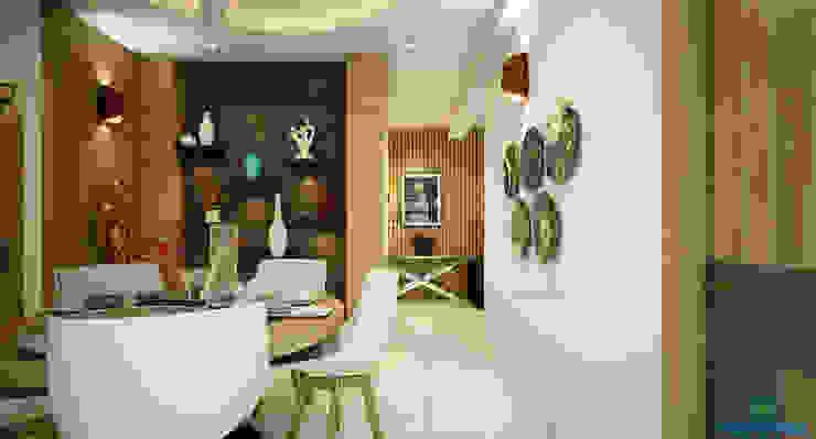 Modern dining room by Monnaie Interiors Pvt Ltd Modern