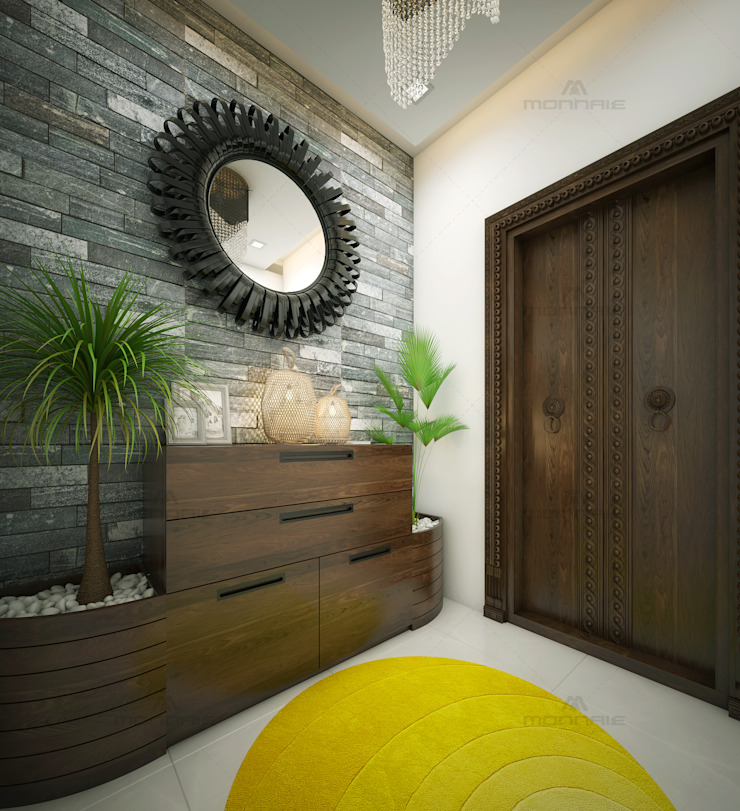 Modern living room by Monnaie Interiors Pvt Ltd Modern