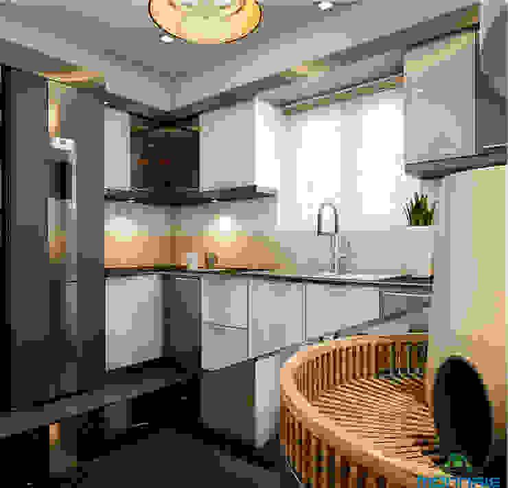 Cocinas modernas de Monnaie Interiors Pvt Ltd Moderno