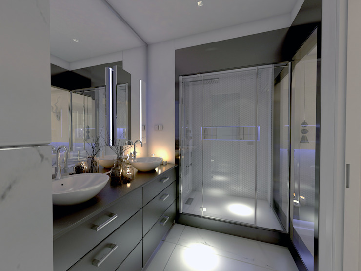 YATAK ODASI TASARIM Derat Mimarlık - Tasarım / Archıtects & Interıor Modern Banyo