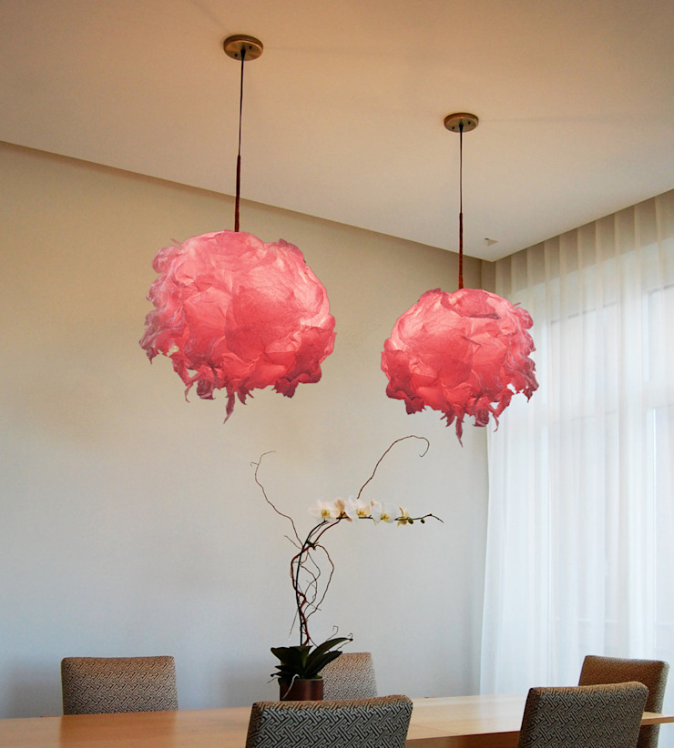 Light Flowers, Sospensioni di SeFa Design by nature Eclettico Carta