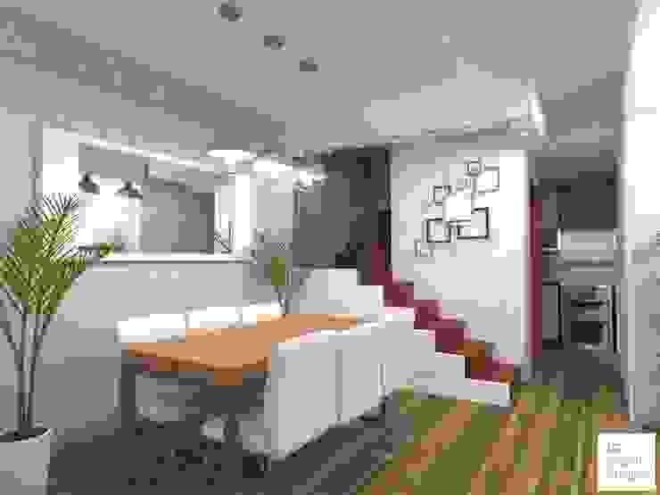 Diseño de interior con estilo industrial en comedor, cocina ...