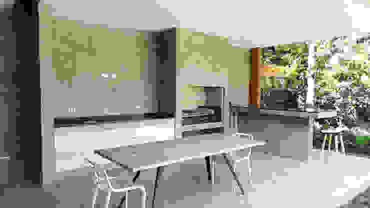 Quincho Lo Matta, 30m2, Vitacura Comedores de estilo minimalista de m2 estudio arquitectos - Santiago Minimalista Concreto