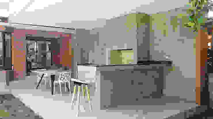 Quincho Lo Matta, 30m2, Vitacura de m2 estudio arquitectos - Santiago Minimalista Granito