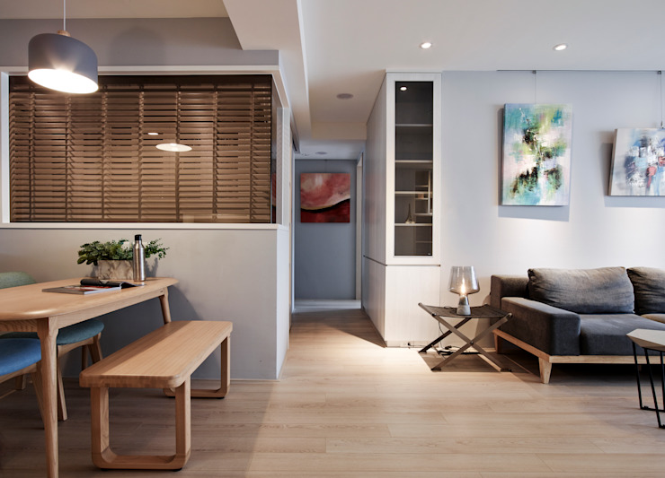 光 斯堪的納維亞風格的走廊,走廊和樓梯 根據 耀昀創意設計有限公司/Alfonso Ideas 北歐風