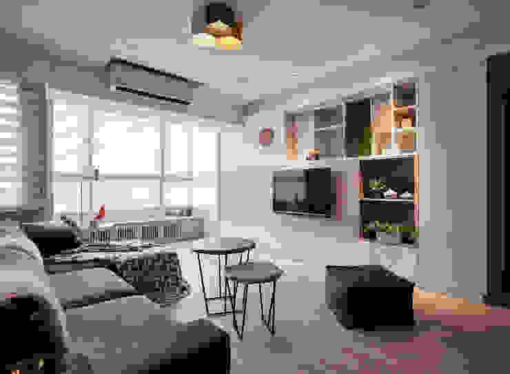 入 耀昀創意設計有限公司/Alfonso Ideas Scandinavian style living room