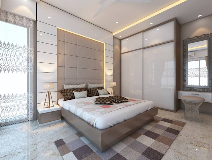 Moden Bedroom Designs Modern style bedroom by Golden Spiral Productionz (p) ltd Modern