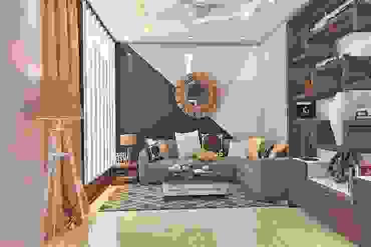 Entrance Minimalist corridor, hallway & stairs by Best Luxury Interiors Minimalist Concrete
