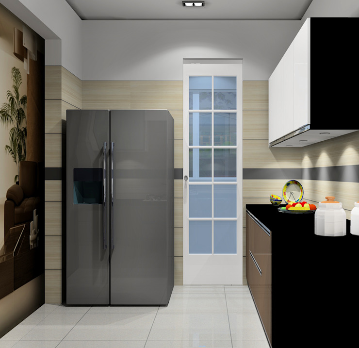 Paimaish Built-in kitchens MDF Wood effect