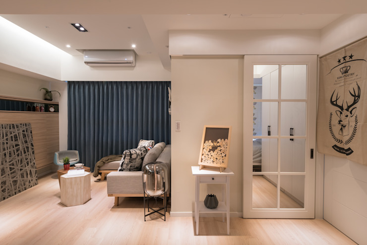 留學終點 Live overseas 斯堪的納維亞風格的走廊,走廊和樓梯 根據 耀昀創意設計有限公司/Alfonso Ideas 北歐風