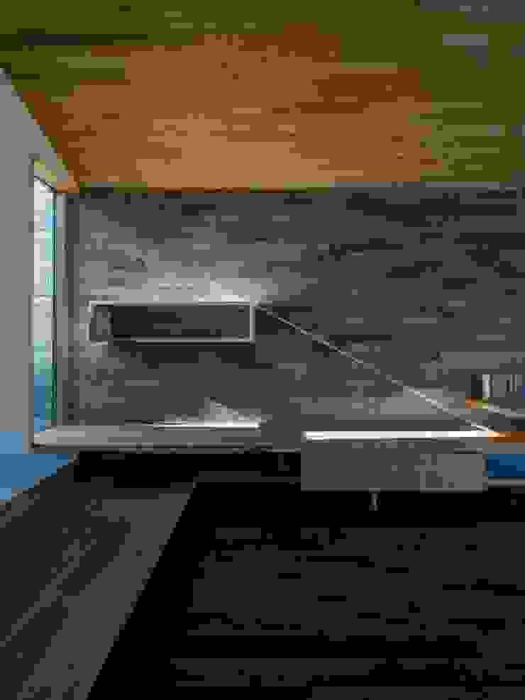株式会社エキップ Salas de estilo moderno Azulejos Gris