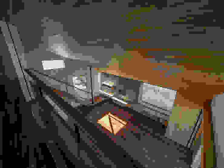 株式会社エキップ Salas de estilo moderno Madera maciza Acabado en madera