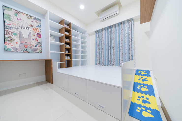 和室床邊收納櫃:  國家  by 藏私系統傢俱, 鄉村風
