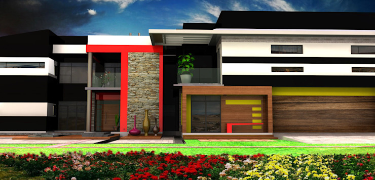 3D Architectural Rendering: modern  by Kori Interiors, Modern