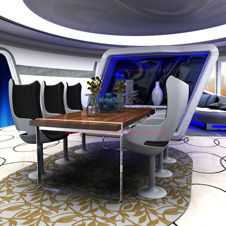 Ultra Contemporary Corporate Meeting room by Kori Interiors