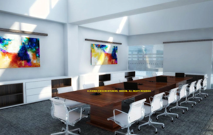 Boardroom: minimalist  by Kori Interiors, Minimalist