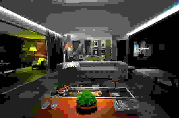 Ambiente integrado: Salas de estar  por BG arquitetura   Projetos Comerciais,Moderno