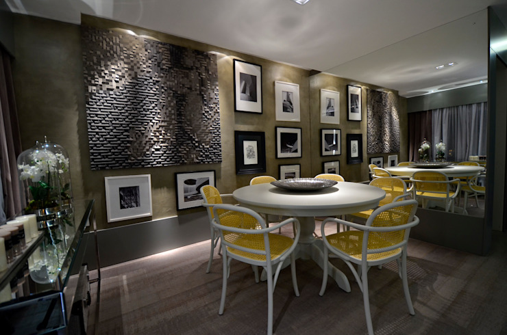 Sala de Jantar: Salas de jantar  por BG arquitetura   Projetos Comerciais,Moderno