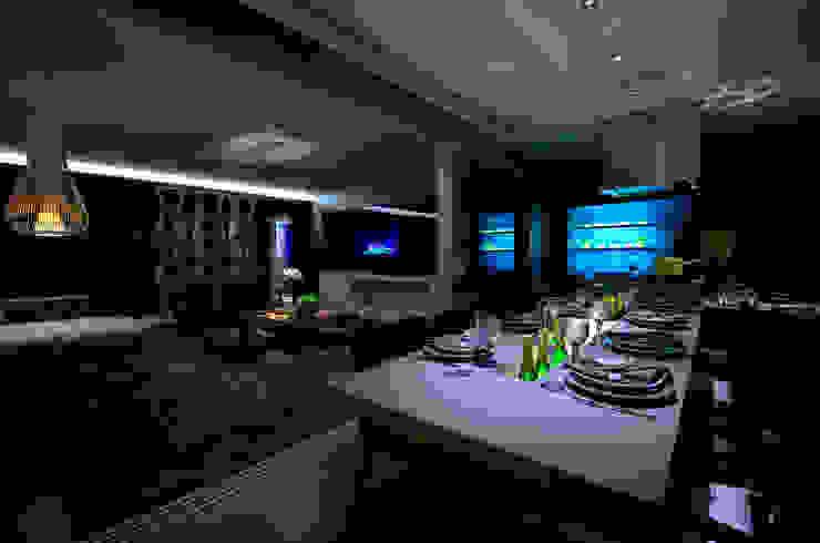 Varanda Gourmet: Salas de jantar  por BG arquitetura   Projetos Comerciais,Moderno