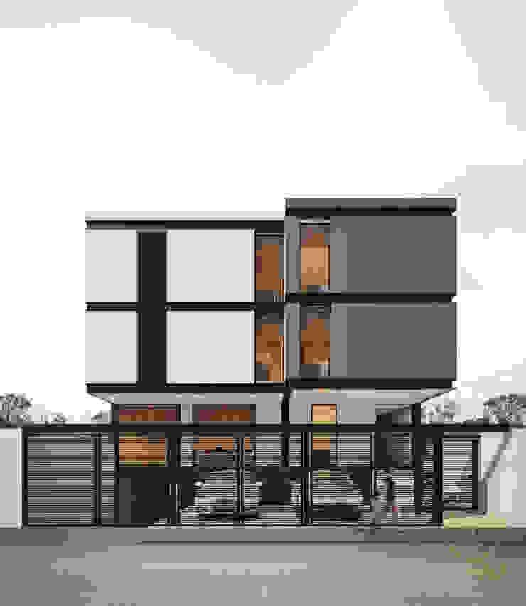 FACHADA PRINCIPAL WERHAUS ARQUITECTOS Casas modernas