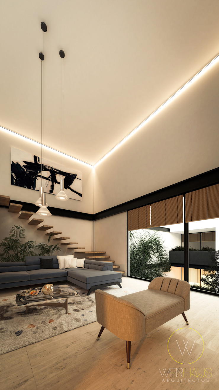 EUCAP 435 WERHAUS ARQUITECTOS Salones modernos