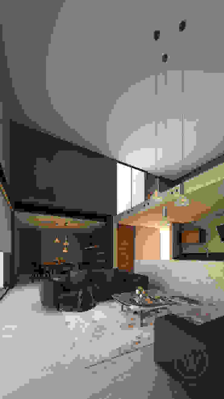 Гостиная в стиле модерн от WERHAUS ARQUITECTOS Модерн