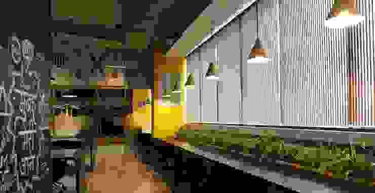 Studio Gritt Complesso d'uffici in stile eclettico Legno massello Giallo