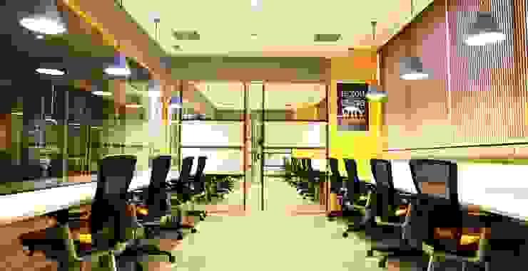 Studio Gritt Complesso d'uffici in stile eclettico Compensato Variopinto