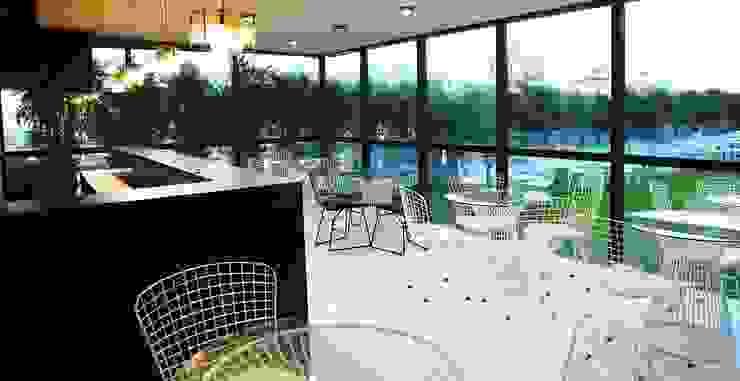 Studio Gritt Complesso d'uffici in stile eclettico Metallo Verde